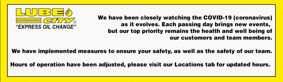 Covid-19 Safety Measures In Place to Keep you and our staff safe.